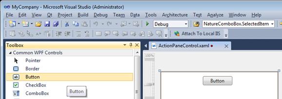 Création du contenu du UserControl WPF